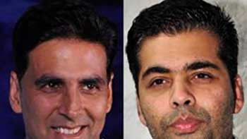 Karan & Akshay excited about their first co-venture.
