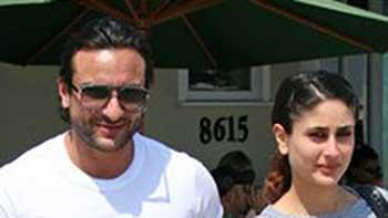 Kareena and Saif away on their first Holi