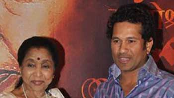 """""""Sachin has always been there for me"""", Says Asha Bhonsle."""