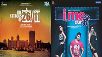 Second day Box office collections of 'I, Me aur Main' and 'The Attacks of 26/11'.