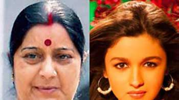 Sushma Swaraj Lashes Out At 'Radha' Song Of The Movie 'Student Of The Year'