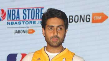 Abhishek Bachchan launches NBA\'s first venture in India