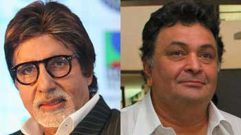 Amitabh Bachchan and Rishi Kapoor together onscreen