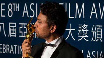 Irrfan Khan wins Best Actor Award at Asian Film Awards