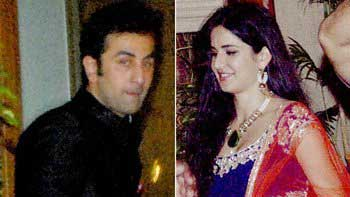 Ranbir Kapoor, Katrina Kaif at Amitabh Bachchan\'s Diwali bash