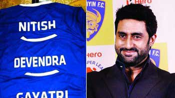 Abhishek Bachchan gifts a customized Chennaiyin FC jersey to his supportive fans