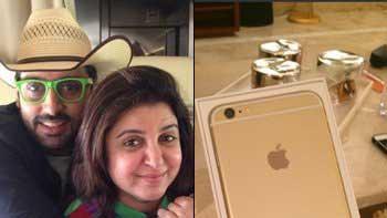 Abhishek Bachchan gifts iPhone 6 to Farah Khan