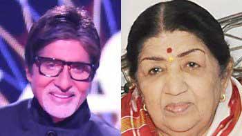 Amitabh Bachchan brings tears in Lata Mangeshkar's eyes