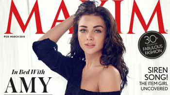 Amy Jackson Sizzles on the Cover of the Maxim Magazine