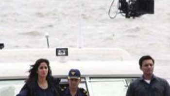 Katrina Kaif shoots for \'Phantom\' at Gateway of India