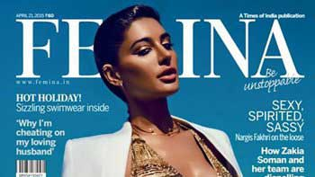 Nargis Fakhri Sizzles on the Cover of the April Issue of 'Femina' Magazine