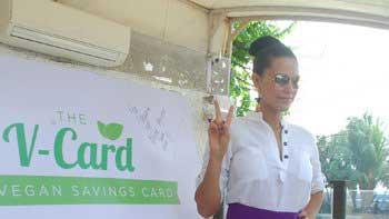 Neha Dhupia launches PETA's V-Card