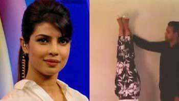 Priyanka Chopra performs handstand for Hrithik Roshan