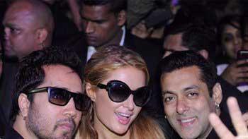 Salman Khan gifts his lucky Turquoise bracelet to Paris Hilton