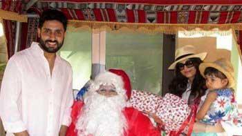 When Aradhya Rai Bachchan met Santa Claus...