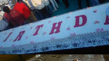 A 400 feet long cake from ardent Surat fans of Salman Khan on his birthday