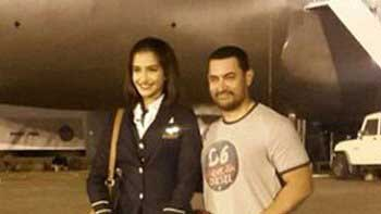 Aamir Visit The Sets Of Sonam Kapoor Starrer 'Neerja'