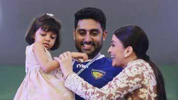 Aaradhya Bachchan cheers father Abhishek Bachchan's football team!