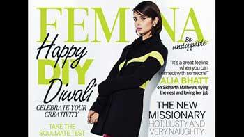 Alia Bhatt flaunts glamorous look on Femina cover