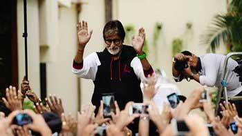 Amitabh Bachchan loves the huge mass of his Sunday Visitor!