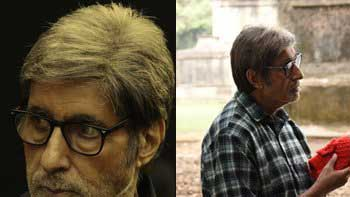 Amitabh Bachchan shoots a sequence in graveyard for 'Te3n'