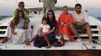 Bachchan family celebrate Abhishek Bachchan's 40th birthday on a catamaran