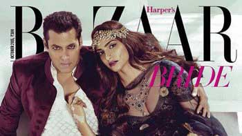 Check out Salman Khan, Sonam Kapoor in traditional avatar on the cover of Harper's Bazaar Bride
