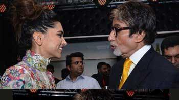 Father-daughter of 'Piku' Amitabh Bachchan and Deepika Padukone share a warm hug
