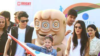 Harshaali Malhotra, Darsheel Safary had a blast at Mumbai Juniorthon