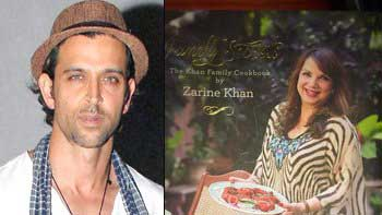 Hrithik Roshan promotes mom-in-law Zarine Khan's first book