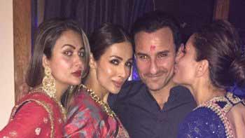 Kareena kisses hubby Saif at Diwali bash!