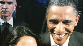 Mallika Sherawat's selfie with the President Barack Obama!