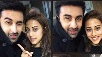 Ranbir Kapoor gets snapped with Pakistani actress Ainy Jaffri
