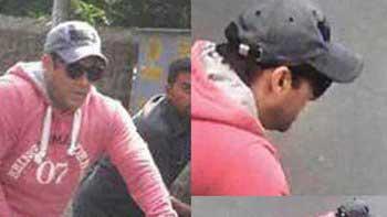 Salman Khan pedals his way to a Mumbai studio