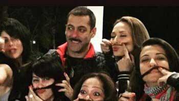 Salman Khan with girl-gang at his 50th birthday bash