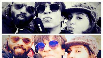 Shah Rukh Khan, Farah Khan, Rohit Shetty take a selfie!