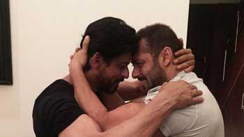 Shah Rukh Khan, Salman Khan hug each other on SRK's 50th birthday