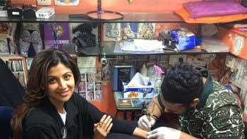 Shilpa Shetty gets her first tattoo, a Swastika