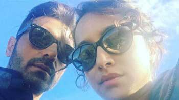 Shraddha Kapoor & Arjun Rampal's selfie from the sets of 'Rock On!! 2'