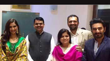 Sonam Kapoor Meets Maharashtra CM Devendra Fadnavis