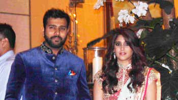Stars at Rohit Sharma - Ritika Sajdeh wedding bash hosted by the Ambanis