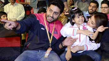 Aishwarya Rai Bachchan and Aaradhya join Abhishek for Pro Kabaddi League