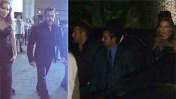Salman Khan, Iulia Vantur's first public appearance at Preity Zinta's reception