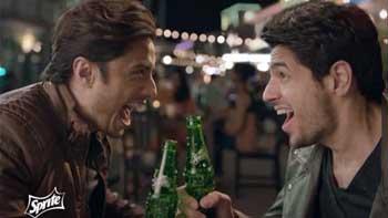 Siddharth Malhotra features in Pakistani ad for Sprite with Ali Zafar