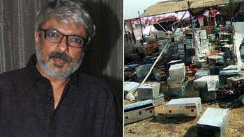 The set of Sanjay Leela Bhansali's Padmavati attacked in Kolhapur!