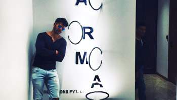 Varun Dhawan poses at new office of Karan Johar's Dharma Productions