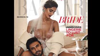 Watch Video: Ranveer & Vaani Sizzle on the Harper's Bazaar Bride Cover