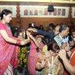 Tanisha Mukherjee and Sharbani Mukherjee attend North Bombay Sarbojanin Durga Pooja Pandal