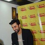 Ranbir Kapoor with RJ Prackriti at film 'Bombay Velvet' promotions at Radio Mirchi FM Studios