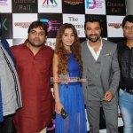 Ajaz Khan and Sara Khan at the launch of film 'The Cinema Hall'